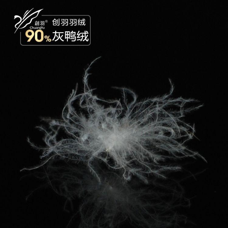 羽绒厂家直销90灰鸭绒2011新国标羽绒服标准填充物批发一公斤发货