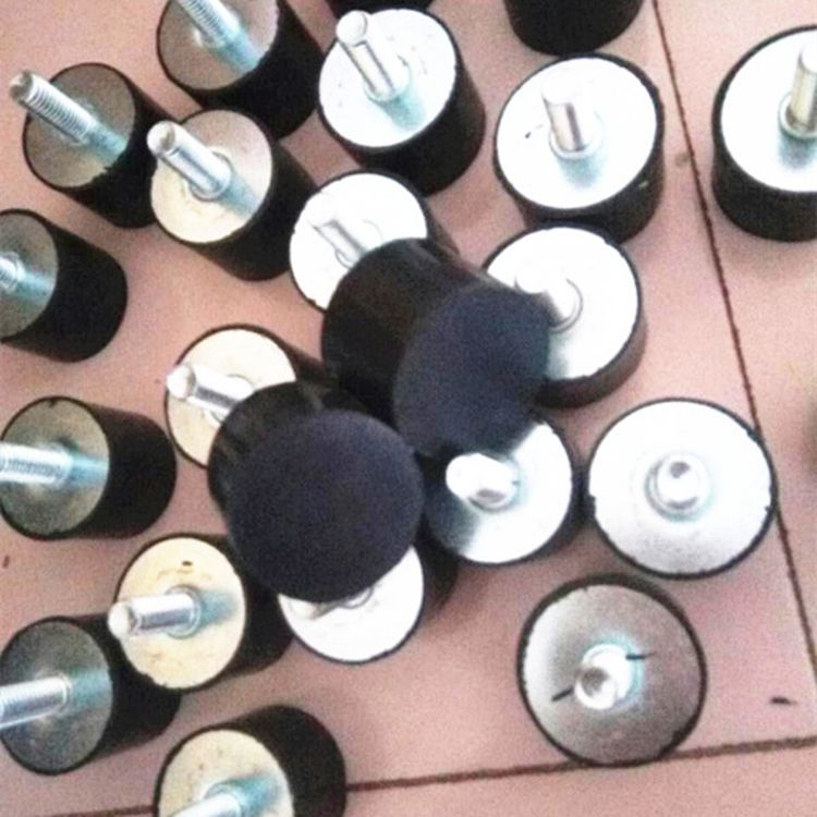 订做VD型橡胶减震垫 50*30 M10缓冲器 圆柱形橡胶减震器