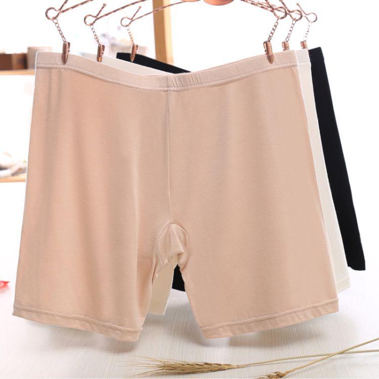 女士新款中腰防走光打底安全裤 简约纯色花边款三分安全裤 033