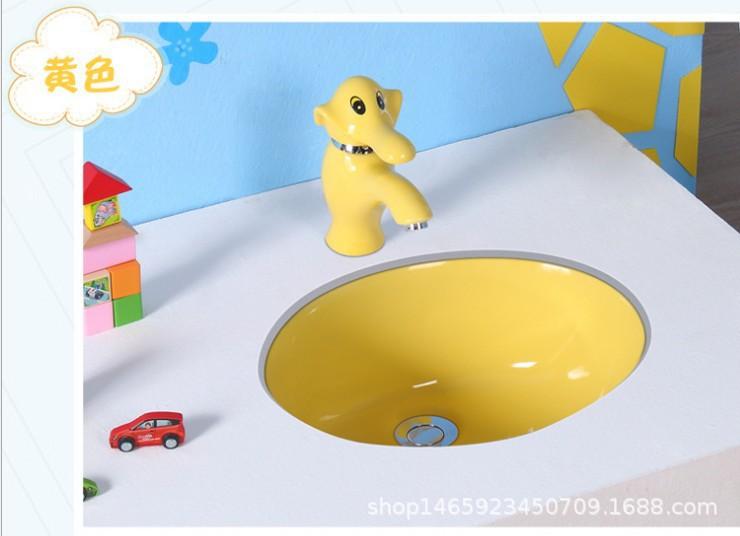 厂家现货供应幼儿园用儿童彩色台下盆阳台用台下盆(一件代发)