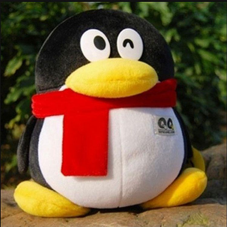 新款正版腾讯QQ企鹅公仔 情侣生日礼物毛绒玩具 布娃娃