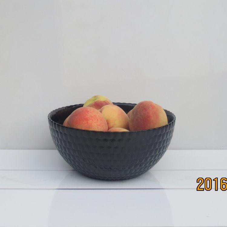 創意時尚8寸 9寸彩色大沙拉水果水晶玻璃碗外貿透明酒店琉璃果斗
