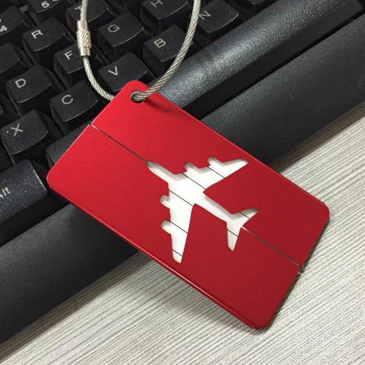 激光雕刻铝合金行李牌 登机牌 创意飞机行李牌 箱包吊牌 定制K188