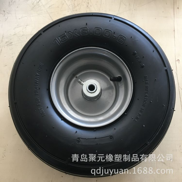 16寸6.00-6橡胶充气轮农用机械轮6PR直纹工具车轮
