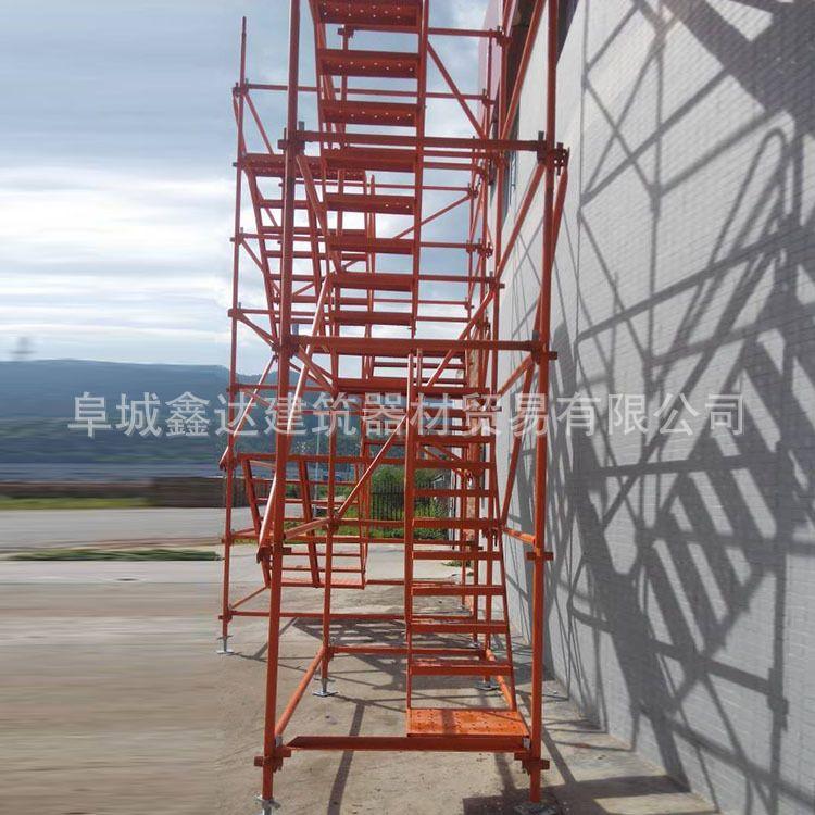厂家直销 门式安全爬梯 高墩桥梁基坑施工爬梯 桥梁施工爬梯