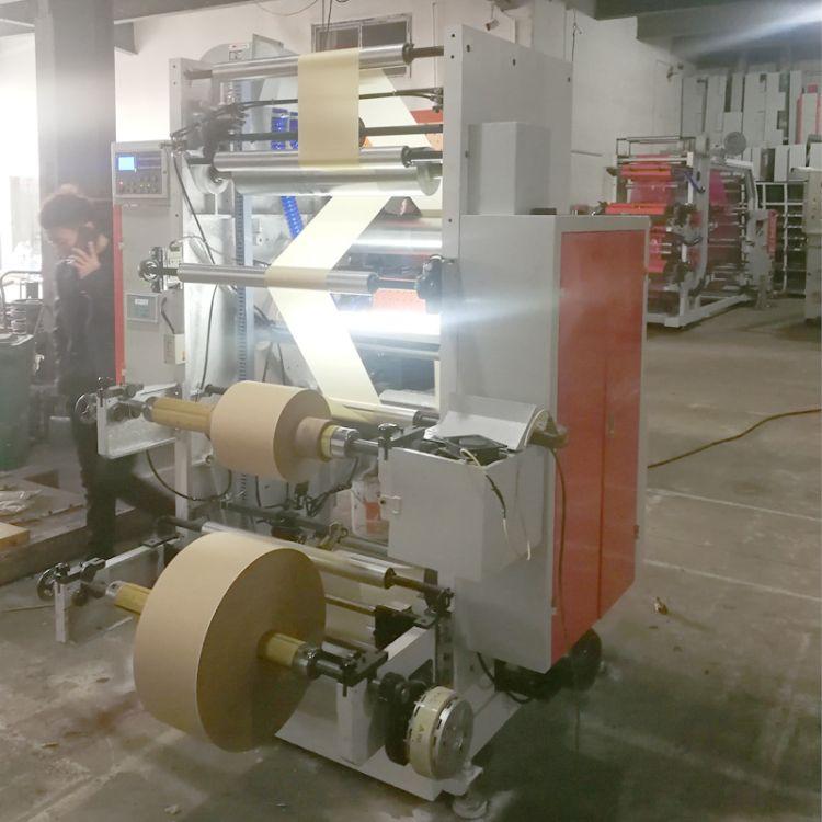 厂家直销两色600mm宽薄纸16g-50g印刷机 恒定张力 自动放料柔印机