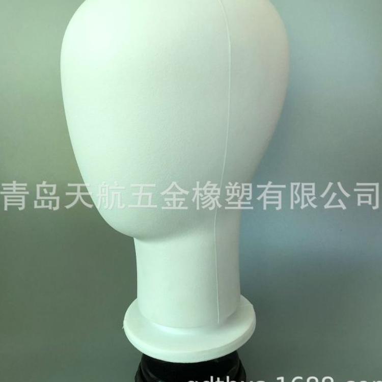 硅胶吸盘式软头可插针假人头模型头带假发帽子PU塑料头发泡模特头