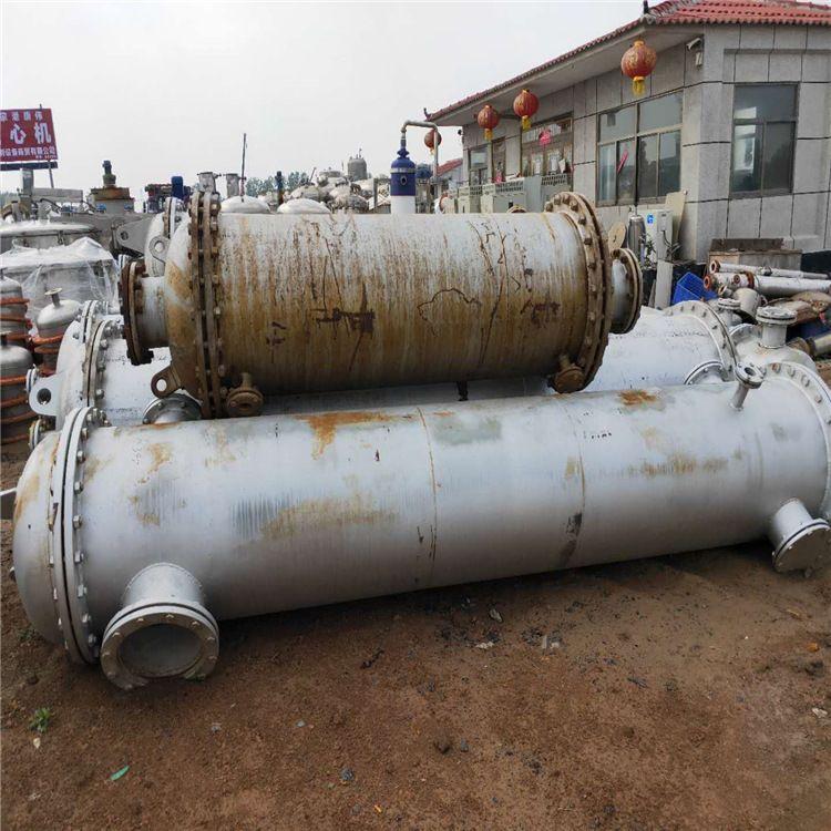 风驰出售二手不锈钢冷凝器    二手石墨冷凝器价格   列管式冷凝器组装