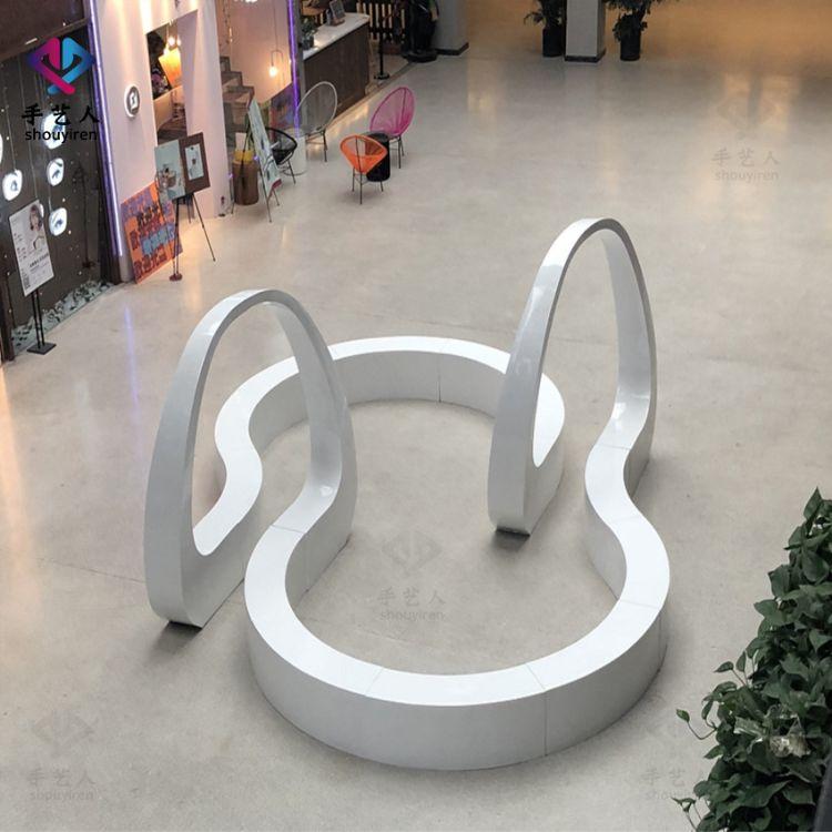 定制玻璃钢北欧创意休闲椅异形户外椅组合多人组合座椅