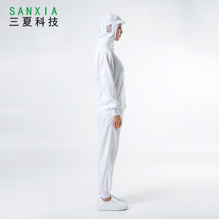 生产加工厂服白色食品车间工作服套装纯色男女长袖日本食品无尘服熊猫之家