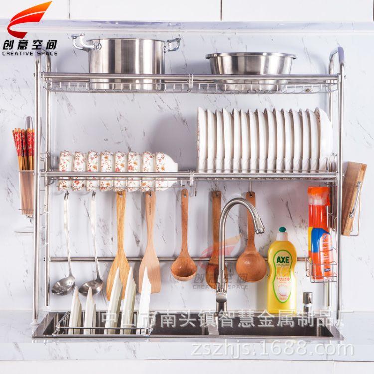 不銹鋼滴水碗架瀝水架廚具廚房置物架晾瀝碗盤