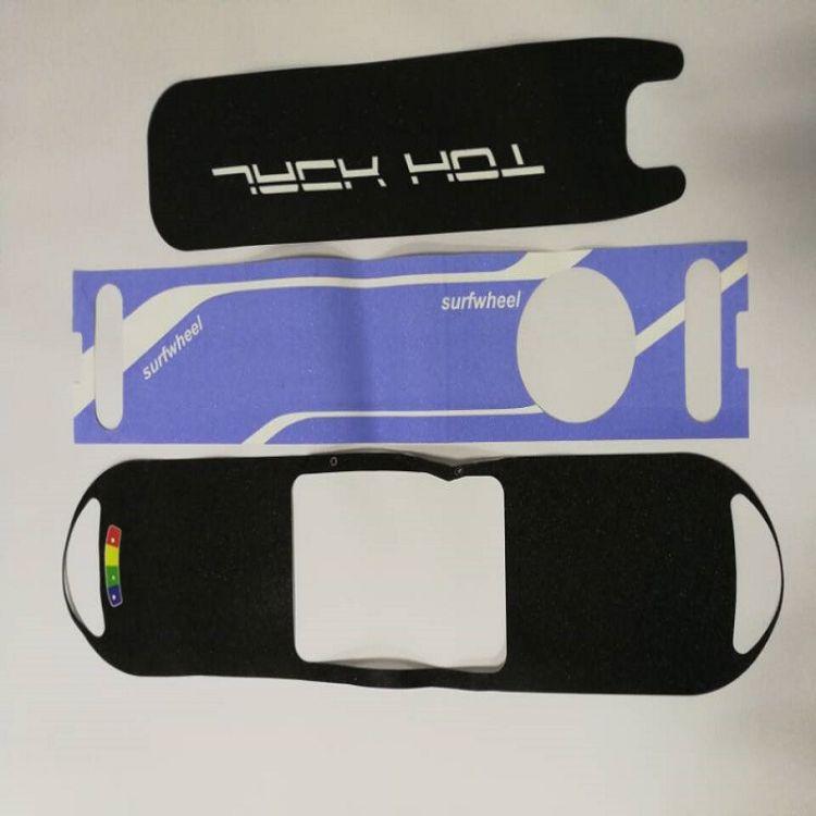 鼎胜订做各种大滑板防滑砂纸止滑贴彩色图案镂空砂纸强粘不起翘