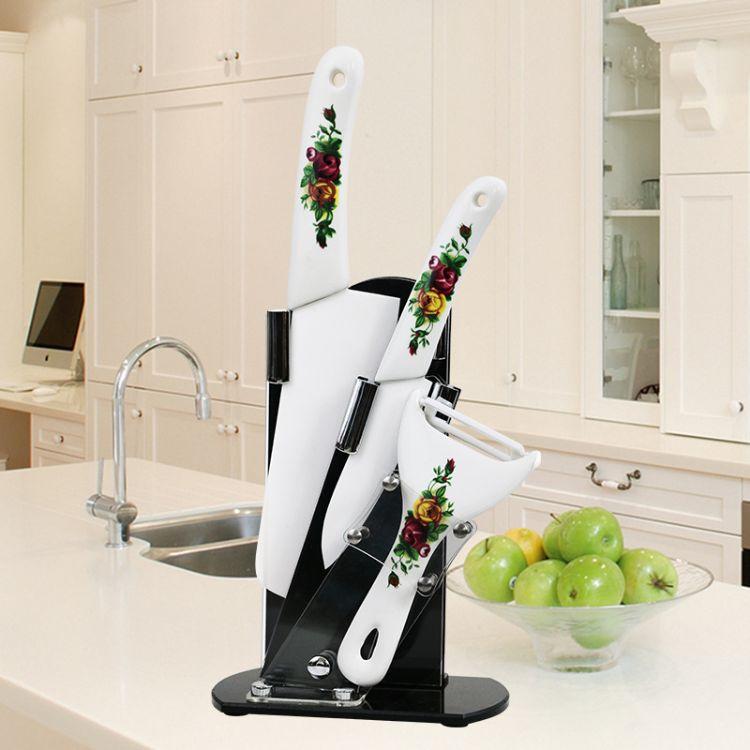 厨房三件套陶瓷套刀 厨用陶瓷柄水果刀菜刀刨子 氧化锆陶瓷刀刀具
