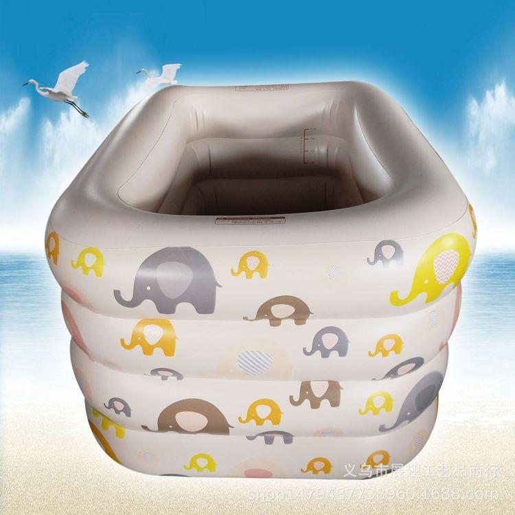 兒童充氣游泳池 加厚環保四環印花超大游泳池 嬰兒游泳充氣戲水池
