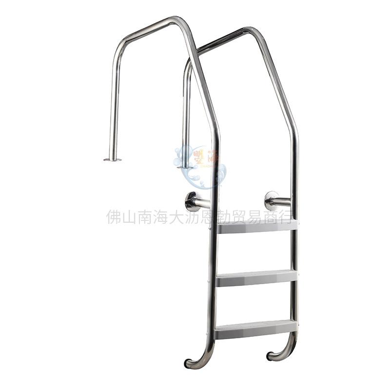 泳池设备 游泳池下水扶梯 304/316不锈钢/预埋式塑料ABS踏板扶梯