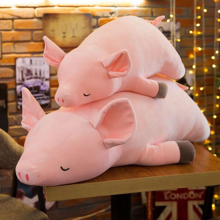 粉紅趴豬毛絨玩具公仔大號羽絨棉軟抱枕熱銷安撫布藝娃娃玩偶禮物