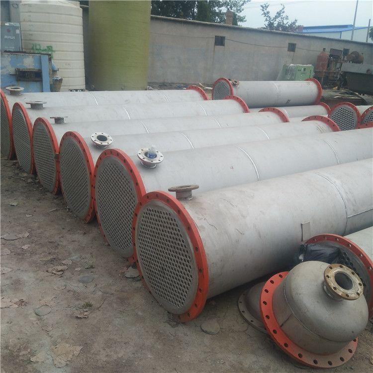 二手石墨冷凝器 搪瓷片式冷凝器 多效蒸发器 80平方不锈钢冷凝器
