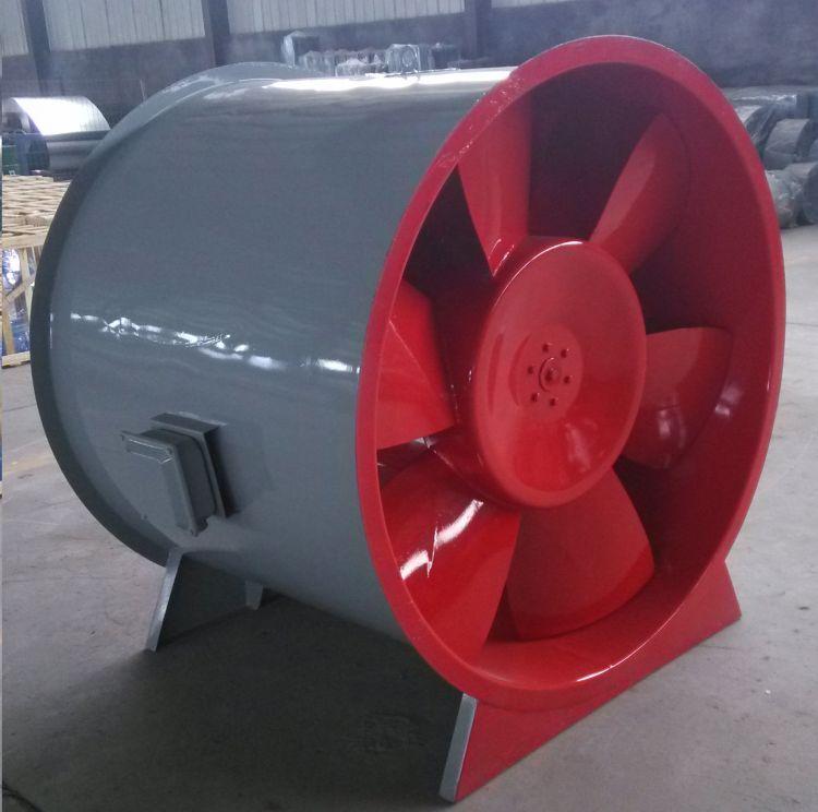 3C认证htf 消防排烟风机 轴流式 双速玻璃钢风量大耐高温排烟风机