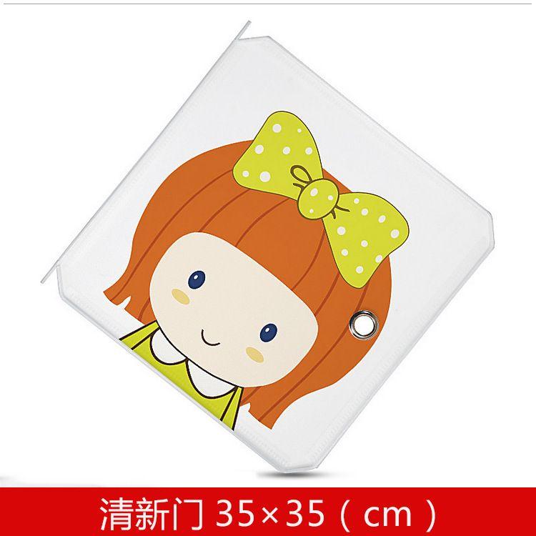 35*35cm卡通门 儿童简易收纳柜配件 可叠加杂物收纳PP树脂魔片