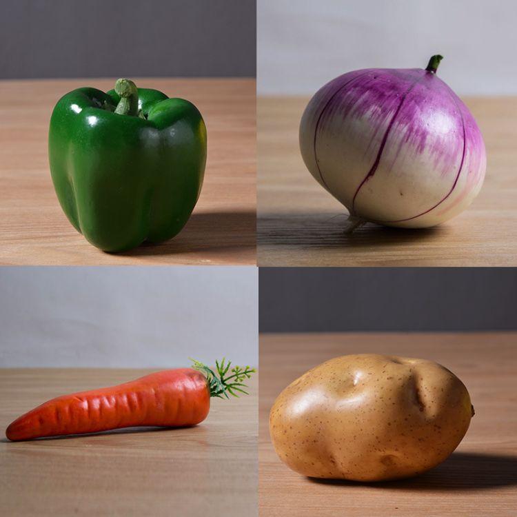 仿真水果 蔬菜 家居裝飾品配套樣板房廚房裝飾品 仿真植物