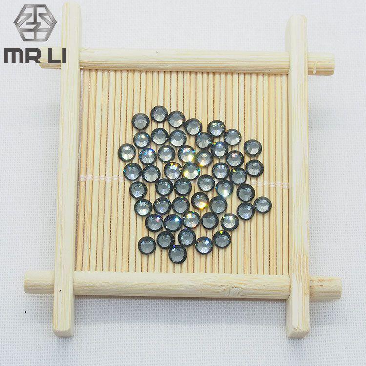 厂家定制仿奥钻 透明灰16切面玻璃烫钻 时尚优雅环保辅料仿奥钻