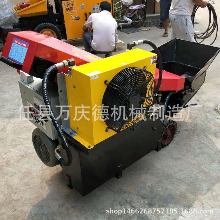 新款二次构造柱输送泵 小型室内细石输送泵 斜式混凝土上料机