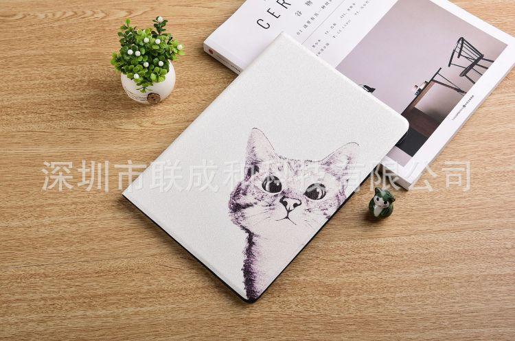 iPad 2/3/4保护套Air 1/2皮套mini 1/2/3/4壳new iPad9.7—黑白猫