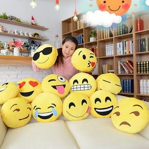 厂家直销 高档热爆款QQ表情抱枕 emoji靠枕沙发垫毛绒玩具公仔