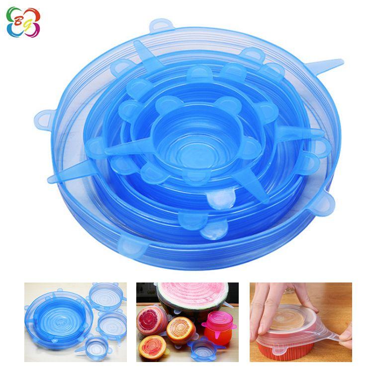 保鲜盖 食品级硅胶6件套膜多功能拉伸创意真空密封保险万能碗盖