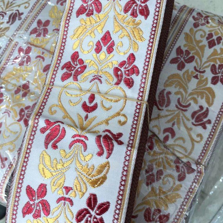 6CM流行窗簾家紡滌編織倫絲織帶滌綸民族提花織帶