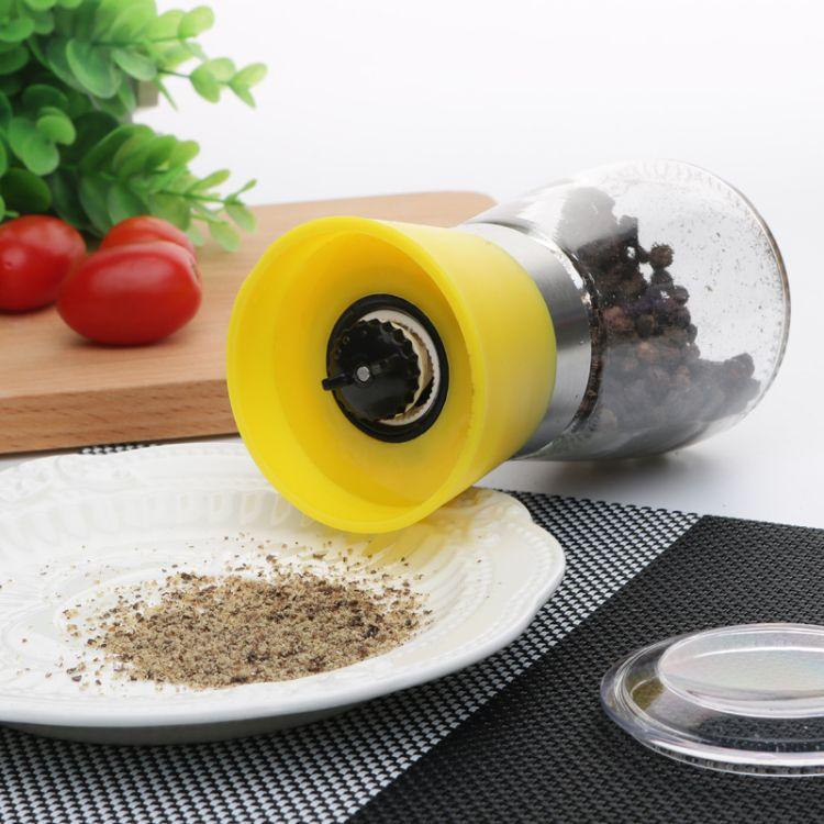 手动现磨胡椒研磨器黑胡椒粉玻璃厨房用品调味调料瓶研磨花椒器