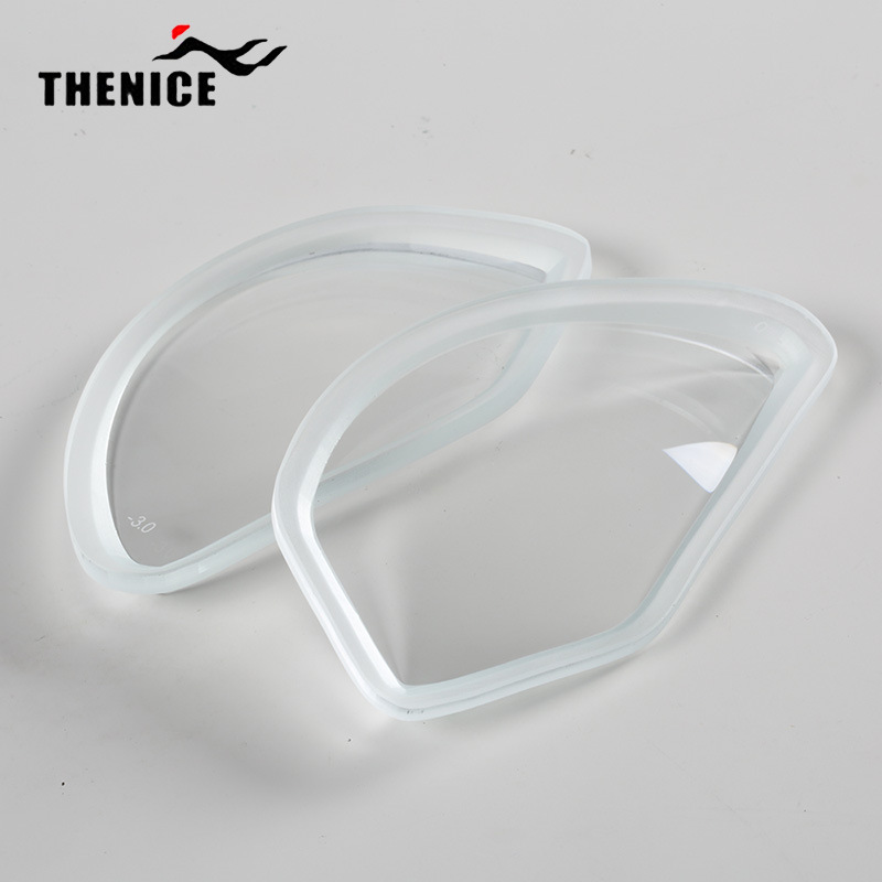 THENICE浮潜面罩M2099专用近视镜片 高清钢化玻璃100-600度防雾镜