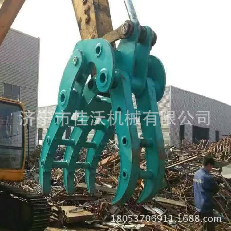 优惠机械抓钢机小型废钢抓机械抓木器挖机机械抓
