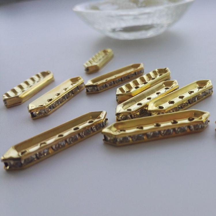 飾品珠飾電鍍隔珠 DIY飾品配件 箱包鞋材配飾 服裝輔料鉆圈