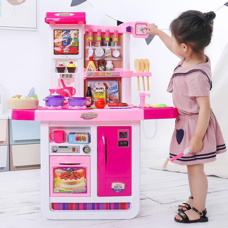 儿童煮饭过家家厨房玩具套装3-6岁女孩宝宝多功能仿真做饭厨具