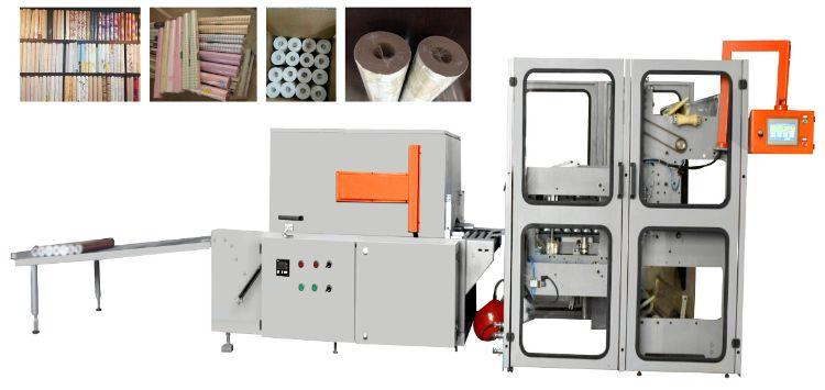 直销墙纸包装机 KDF-B700型半自动半封热收缩包装机高速度