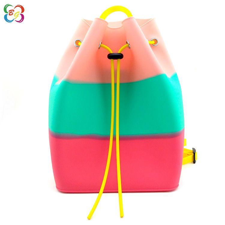 深圳做包工厂硅胶女式双肩包儿童果冻色可爱卡通后现代百搭款背包