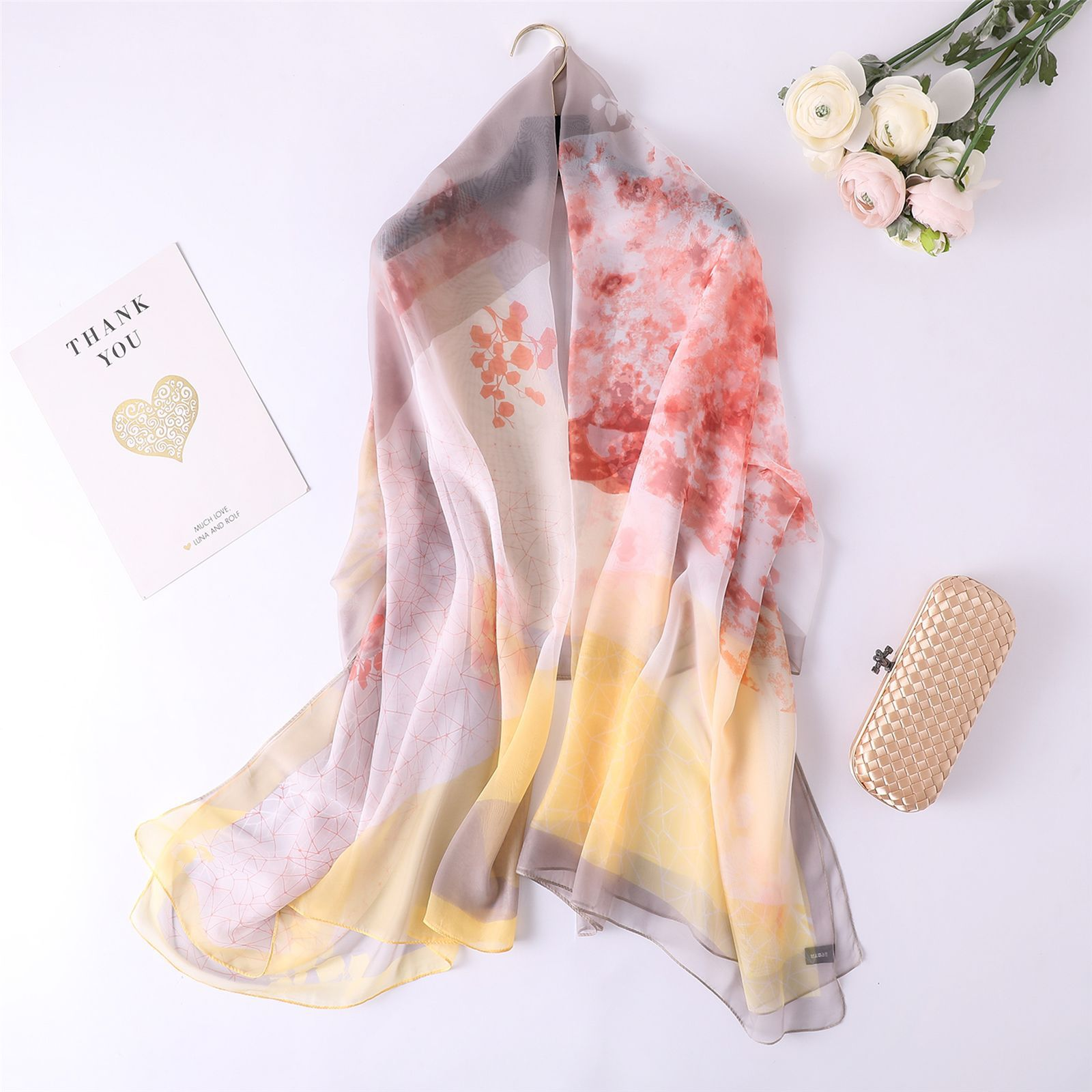 2019韓版春秋絲巾女士加長圍巾夏季防曬沙灘巾兩用加長披肩紗巾
