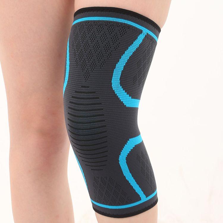 运动尼龙加压护膝 硅胶防滑透气针织护膝 四季运动护具 跨境爆款