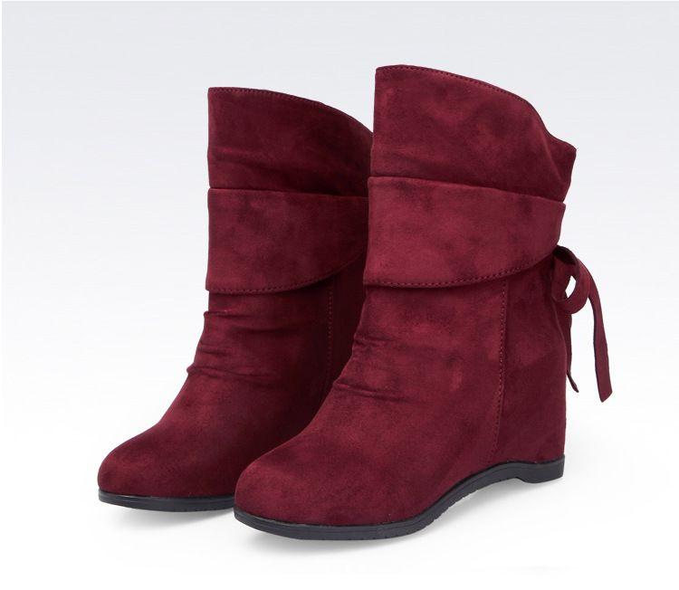 詩菲圖新款女春冬內增高舞靴 反絨廣場舞靴子特價軟底
