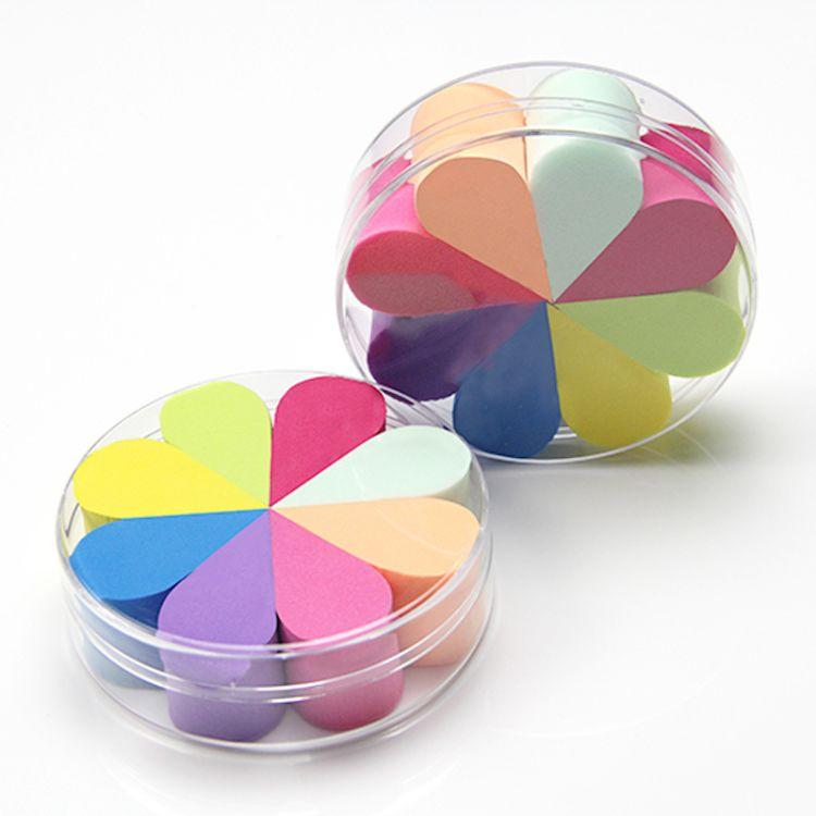 [工厂定制]亲水性非乳胶花瓣粉扑八个盒装超柔软 平面粉扑