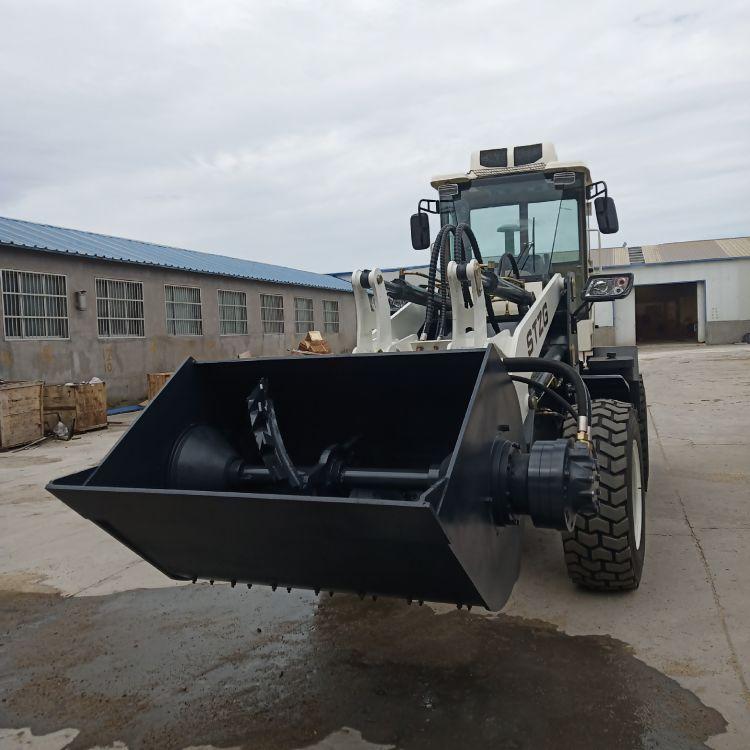 强制搅拌斗装载机 多功能装载机搅拌斗 混凝土搅拌铲车 价格优惠