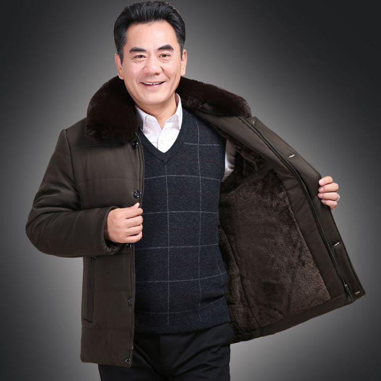 爸爸冬装新款55中老年人男装棉衣50岁中年加厚爷爷秋冬季外套60