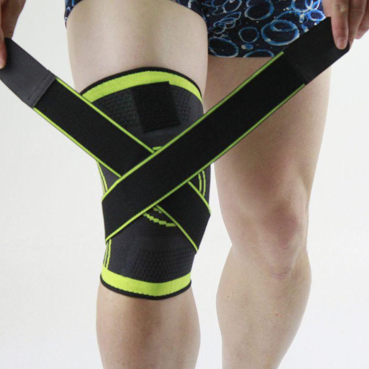 户外运动加压护膝骑行运动耐磨透气护膝盖针织护膝运动护具