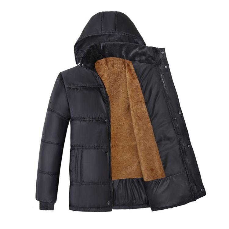 秋冬季新款中老年男装棉衣地摊外套 爸爸装男士棉衣 加绒厚棉服