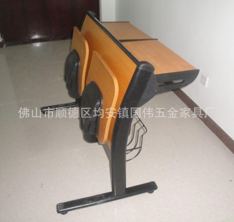 厂家直销学校课桌椅 培训教室可活动连排课桌椅 会议教学桌椅