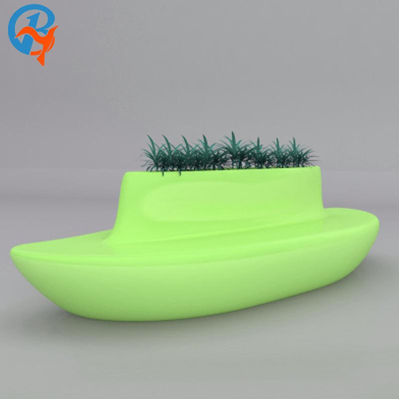 玻璃钢创意休闲椅 商场美陈休闲椅 商场装饰时尚休闲组合花盆座椅