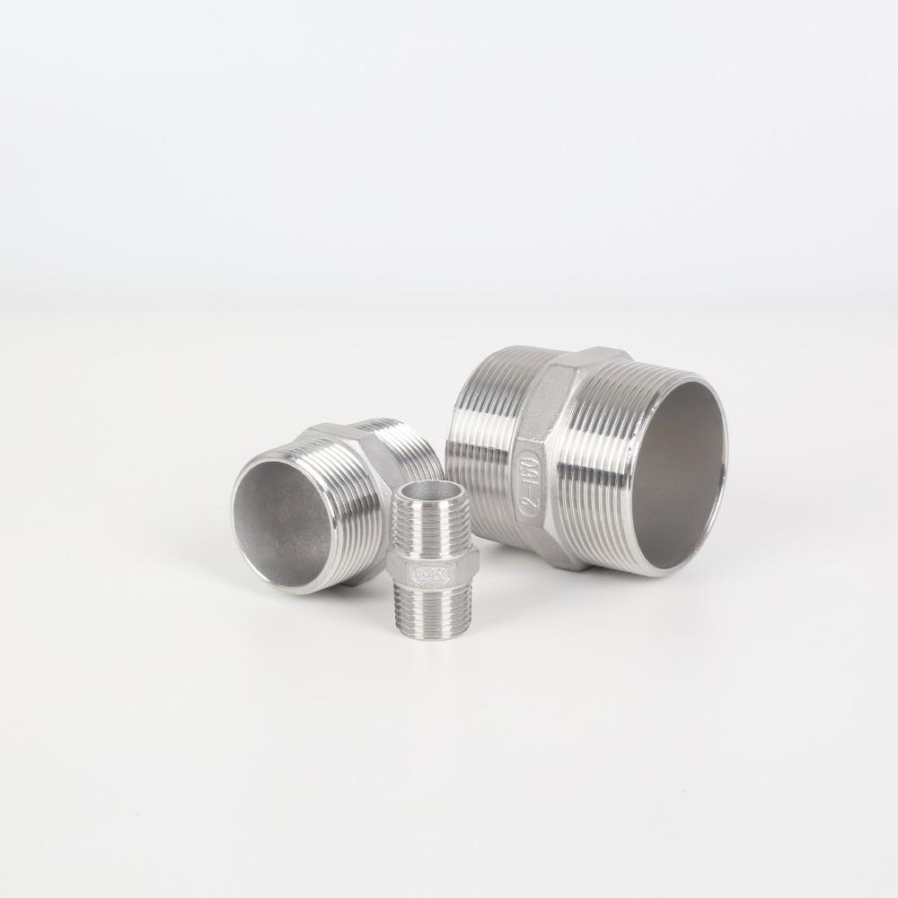 304不锈钢对丝直接316六角双外丝阀门管件自来水管气管直通连接头
