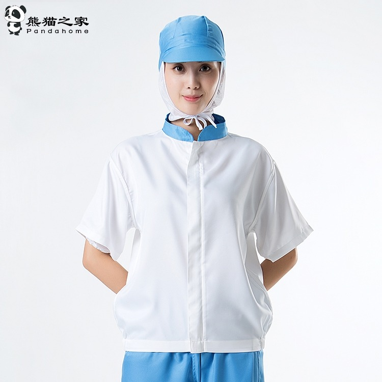 熊猫之家短袖夏季食品车间工作服套装短袖工厂车间工作服薄款