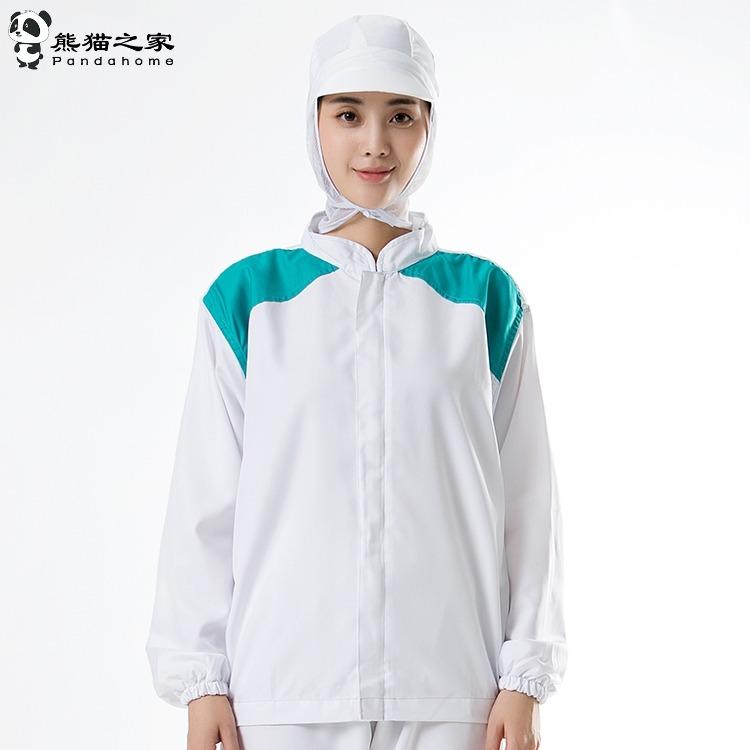 成都食品工作服厂家熊猫之家车间工作服吸汗好洗透气白色工作服套装